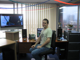 Ots Labs founder & CEO, Adam Ots, at the Ots Labs Australian office