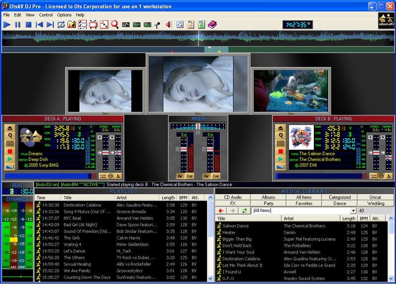 Click to view OtsAV DJ 1.85.076 screenshot