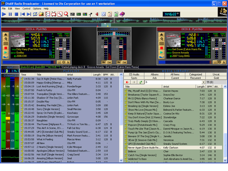 Click to view OtsAV Radio 1.85.076 screenshot