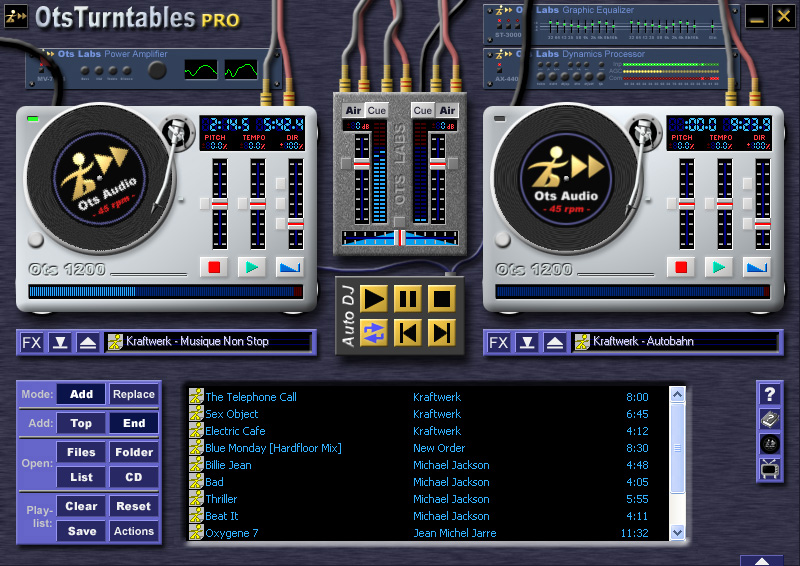 OtsTurntables Free -- The hottest MP3 mixer on the planet.